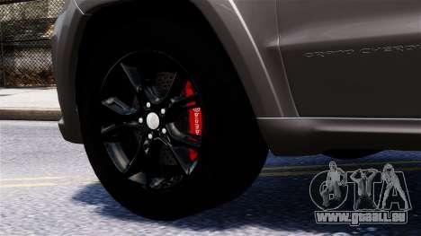 Jeep Grand Cherokee SRT8 2015 pour GTA 4 est un droit