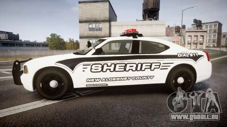 Dodge Charger 2010 New Alderney Sheriff [ELS] für GTA 4 linke Ansicht
