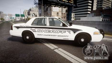 Ford Crown Victoria 2011 New Alderney Sheriff für GTA 4 linke Ansicht