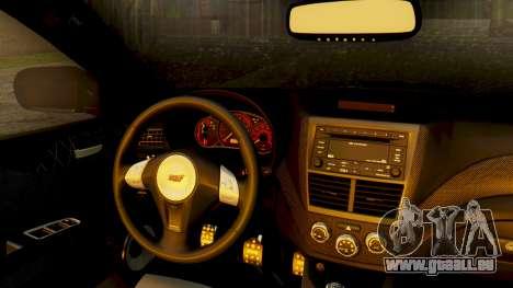 Subaru Impreza WRX STI 2008 für GTA San Andreas Rückansicht