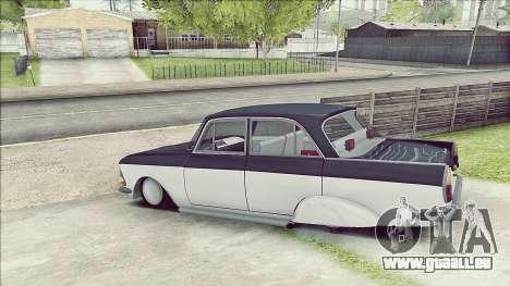Moskvitch 408 pour GTA San Andreas sur la vue arrière gauche