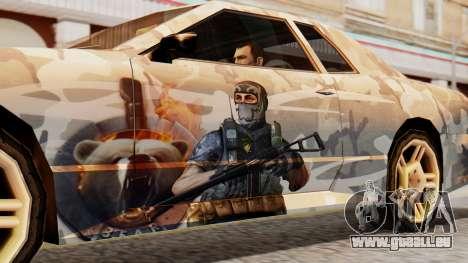 Elegy Contract Wars Vinyl für GTA San Andreas zurück linke Ansicht