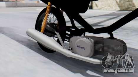 Honda Wave Stunt pour GTA San Andreas sur la vue arrière gauche