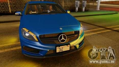 Mercedes-Benz A45 AMG 2012 PJ pour GTA San Andreas vue intérieure