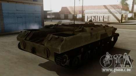 BTR-D pour GTA San Andreas sur la vue arrière gauche