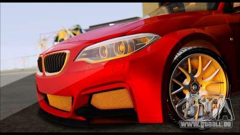 BMW 235i F22 pour GTA San Andreas sur la vue arrière gauche