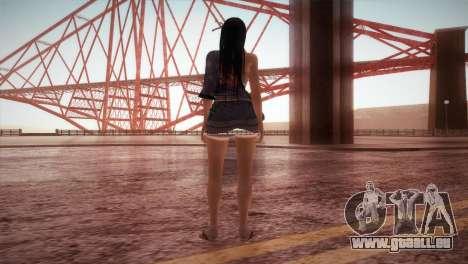 Momiji Kokoro2 DoA pour GTA San Andreas troisième écran