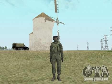 Pak-Kämpfer von speziellen Truppen von GRU für GTA San Andreas sechsten Screenshot