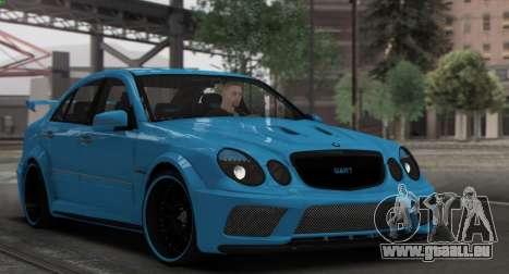 Mercedes-Benz E63 Qart Tuning für GTA San Andreas obere Ansicht