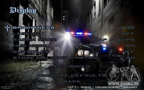 Night Menu pour GTA San Andreas cinquième écran