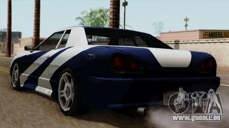 Vinyle pour Elegy - NFSMW pour GTA San Andreas laissé vue