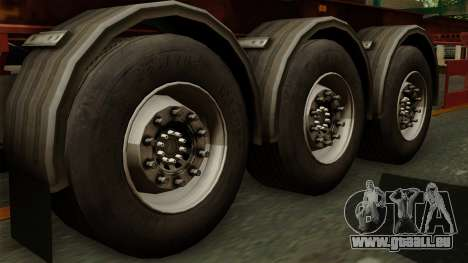 Trailer Cargos ETS2 New v1 pour GTA San Andreas sur la vue arrière gauche