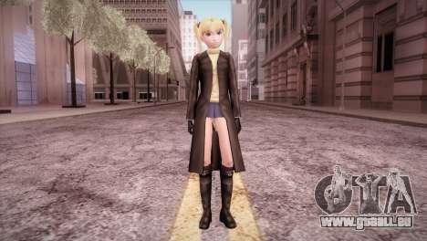 Leather Coat Short Skirt Ani für GTA San Andreas zweiten Screenshot