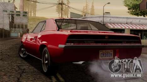 GTA 5 Declasse Vigero IVF für GTA San Andreas zurück linke Ansicht