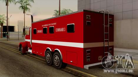 FDSA Mobile Command Post Truck für GTA San Andreas linke Ansicht