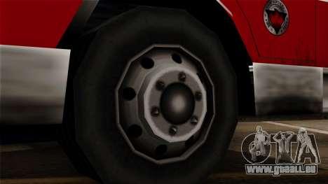 FDSA Urban Search & Rescue Truck pour GTA San Andreas sur la vue arrière gauche