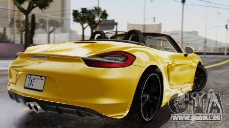 Porsche Boxter GTS 2016 pour GTA San Andreas laissé vue