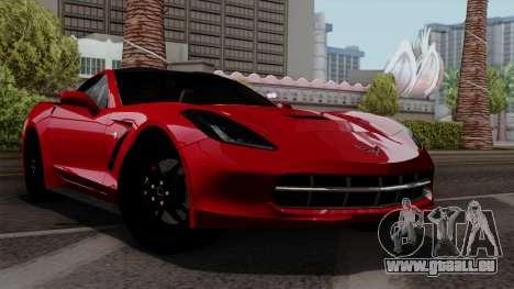Chevrolet Corvette C7 Stingray 1.0.1 pour GTA San Andreas vue intérieure