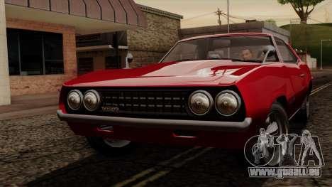 GTA 5 Declasse Vigero IVF für GTA San Andreas linke Ansicht