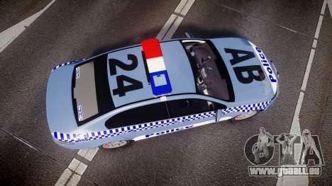 Ford Falcon FG XR6 Turbo NSW Police [ELS] v2.0 pour GTA 4 est un droit