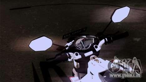 Yamaha Vixion Advance Lominous White für GTA San Andreas rechten Ansicht
