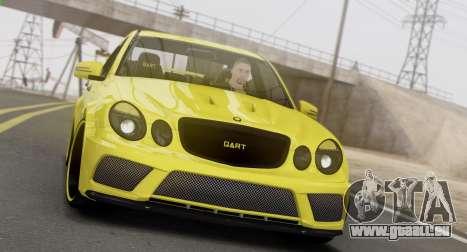 Mercedes-Benz E63 Qart Tuning für GTA San Andreas linke Ansicht
