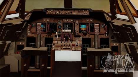 Boeing 747 British für GTA San Andreas Innenansicht