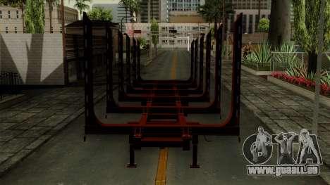 Trailer Log v1 für GTA San Andreas Rückansicht