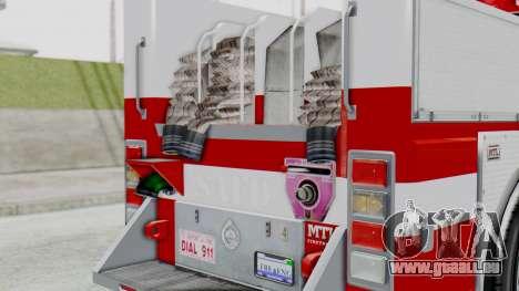 MTL SAFD Firetruck Flat Shadow pour GTA San Andreas vue arrière