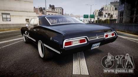 Chevrolet Impala 1967 Custom livery 4 pour GTA 4 Vue arrière de la gauche