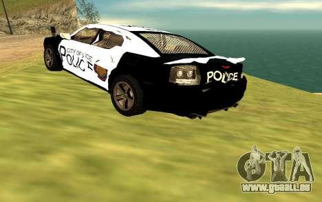 Dodge Charger Super Bee 2008 Vice City Police pour GTA San Andreas vue arrière