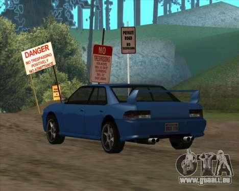 Sultan v1.0 für GTA San Andreas zurück linke Ansicht