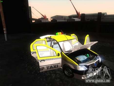 Dacia Logan Taxi UNIVIP für GTA San Andreas zurück linke Ansicht
