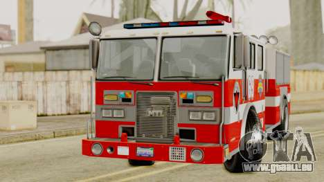 MTL SAFD Firetruck pour GTA San Andreas vue de droite