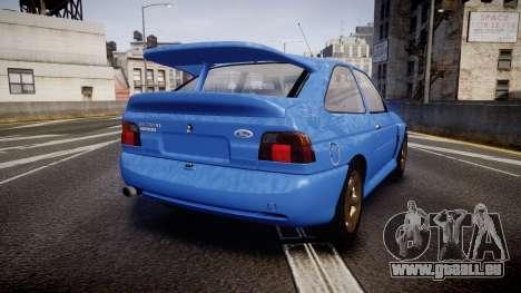 Ford Escort RS Cosworth für GTA 4 hinten links Ansicht