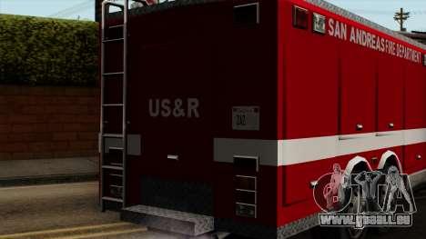 FDSA Urban Search & Rescue Truck pour GTA San Andreas vue arrière