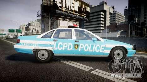 Chevrolet Caprice 1991 Police pour GTA 4 est une gauche