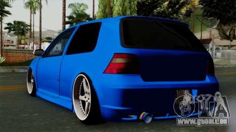 Volkswagen Golf Mk4 Stance pour GTA San Andreas laissé vue