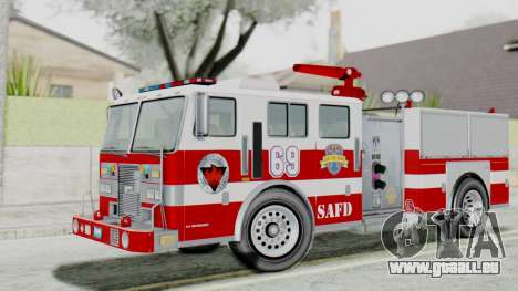 MTL SAFD Firetruck Flat Shadow pour GTA San Andreas