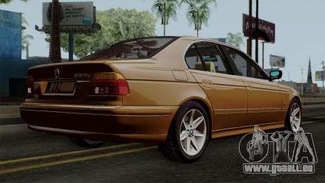 BMW 530D E39 2001 Stock pour GTA San Andreas laissé vue