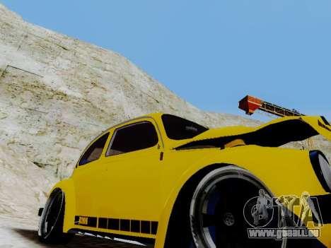 Volkswagen Beetle 1975 Jeans Édition Personnalis pour GTA San Andreas vue de dessus