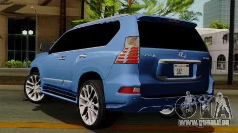 Lexus GX460 2014 v1 pour GTA San Andreas laissé vue
