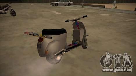Stunt-Faggio pour GTA San Andreas sur la vue arrière gauche