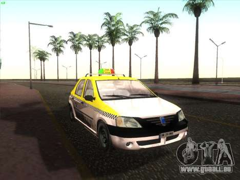 Dacia Logan Taxi UNIVIP für GTA San Andreas