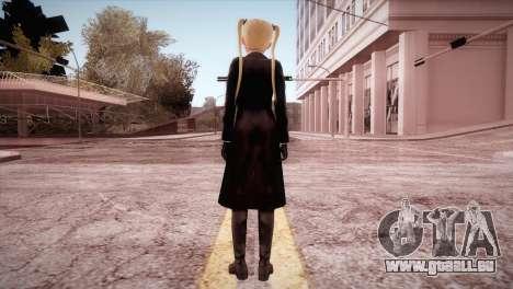 Leather Coat Short Skirt Ani für GTA San Andreas dritten Screenshot