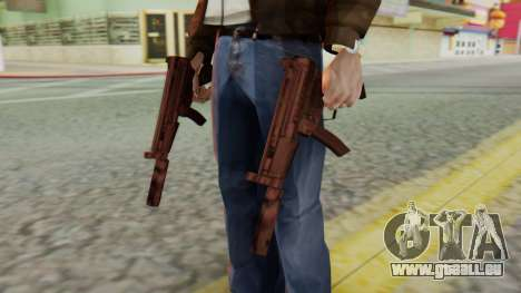 MP5K Silenced SA Style für GTA San Andreas dritten Screenshot