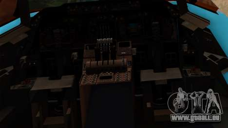 Boeing 747 Korean Air für GTA San Andreas Innenansicht