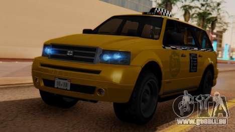 Landstalker Taxi SR 4 Style für GTA San Andreas