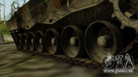 Leopard 2A4 pour GTA San Andreas sur la vue arrière gauche