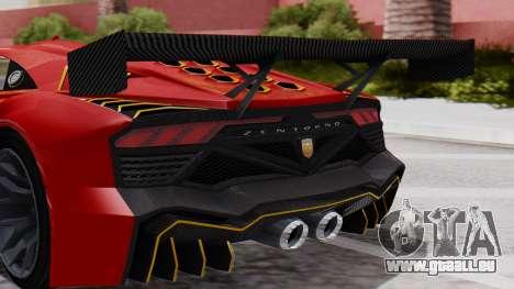 Pegassi Zentorno SM GT3 pour GTA San Andreas vue arrière